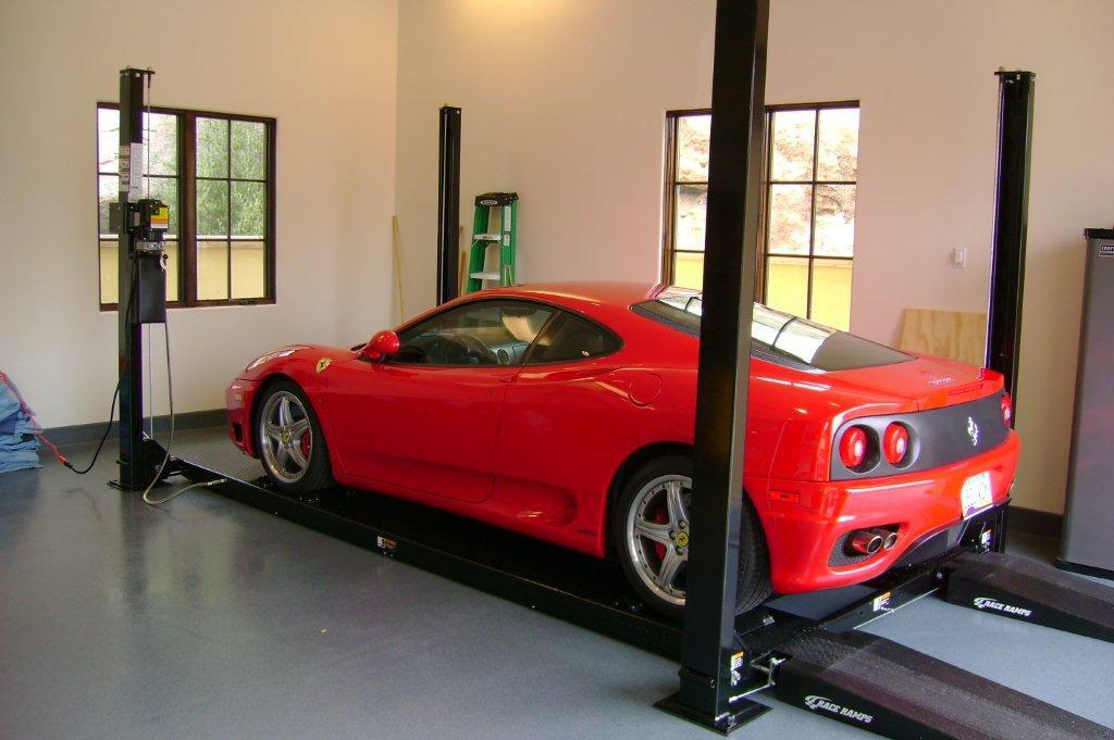 Custom Garage Equipment HUNTER-ACCULINE-DIRECT LIFT-ROTARY